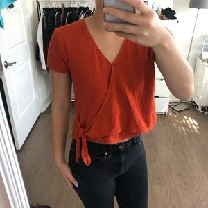 Madewell Orange Tie Top by Texture and Thread